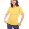 เสื้อโปโล สีเหลือง TK Premium แขนสั้น ทรงเว้า (หญิง) Size 2XL