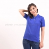 เสื้อโปโล สีน้ำเงิน TK Premium แขนสั้น ทรงเว้า (หญิง) Size 2XL