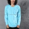 เสื้อยืด สีฟ้าอ่อน คอกลม แขนยาว Size 2XL สำเนา