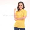 เสื้อโปโล สีเหลือง TK Premium แขนสั้น ทรงเว้า (หญิง) Size 3XL