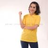 เสื้อโปโล สีเหลือง TK Premium แขนสั้น ทรงเว้า (หญิง) Size 4XL