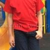 เสื้อยืดเด็ก สีแดง คอกลม แขนสั้น Size 2XL สำเนา