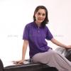 เสื้อโปโล สีม่วง TK Premium แขนสั้น ทรงเว้า (หญิง) Size 3XL