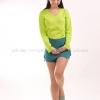 เสื้อยืด สีเขียวมะนาว คอวี แขนยาว Size M สำเนา