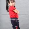 เสื้อยืดเด็ก สีแดง คอกลม แขนสั้น Size S