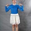 เสื้อยืด สีฟ้าทะเล คอกลม แขนยาว Size L สำเนา