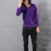 เสื้อยืด สีม่วงเข้ม คอกลม แขนยาว Size 4XL