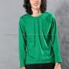 เสื้อยืด สีเขียวใบไม้ คอกลม แขนยาว Size XL