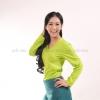 เสื้อยืด สีเขียวมะนาว คอวี แขนยาว Size 3XL สำเนา