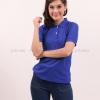 เสื้อโปโล สีน้ำเงิน TK Premium แขนสั้น ทรงเว้า (หญิง) Size S