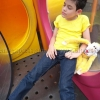 เสื้อยืดเด็ก สีเหลือง คอกลม แขนสั้น Size 2XL
