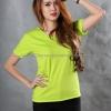 L เสื้อยืด สีเขียวมะนาว คอวี แขนสั้น Size L สำเนา