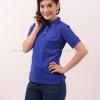 เสื้อโปโล สีน้ำเงิน TK Premium แขนสั้น ทรงเว้า (หญิง) Size XL