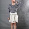 เสื้อยืด สีเทาอ่อน คอกลม แขนยาว Size L สำเนา