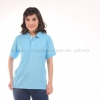 เสื้อโปโล สีฟ้าอ่อน TK Premium แขนสั้น ทรงเว้า (หญิง) Size M