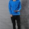 เสื้อยืด สีฟ้าทะเล คอกลม แขนยาว Size 2XL