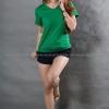 M เสื้อยืด สีเขียวใบไม้ คอวี แขนสั้น Size M สำเนา