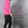 เสื้อยืด สีชมพู Pinky คอกลม แขนยาว Size 2XL