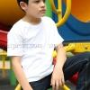 เสื้อยืดเด็ก สีขาว คอกลม แขนสั้น Size 2XL