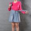 เสื้อยืด สีชมพู Pinky คอกลม แขนยาว Size L