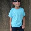 เสื้อยืดเด็ก สีฟ้าอ่อน คอกลม แขนสั้น Size 2XL