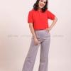 เสื้อโปโล สีแดง TK Premium แขนสั้น ทรงเว้า (หญิง) Size XL