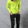 เสื้อยืด สีเขียวมะนาว คอกลม แขนยาว Size 4XL