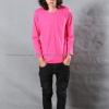 เสื้อยืด สีชมพู Pinky คอกลม แขนยาว Size 3XL