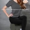4XL เสื้อยืด สีดำท็อปดาย คอวี แขนสั้น Size 4XL แขนสั้น Cotton 100% เสื้อยืดสีพื้น เสื้อยืดแฟชั่น เสื้อยืดเกาหลี สำเนา
