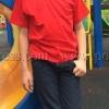 เสื้อยืดเด็ก สีแดง คอกลม แขนสั้น Size XL