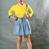 เสื้อยืด สีเหลือง คอกลม แขนยาว Size L