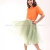 เสื้อโปโล สีส้ม TK Premium แขนสั้น ทรงเว้า (หญิง) Size XL