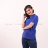 เสื้อโปโล สีน้ำเงิน TK Premium แขนสั้น ทรงเว้า (หญิง) Size M