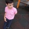 เสื้อยืดเด็ก สีชมพูอ่อน คอกลม แขนสั้น Size 2XL