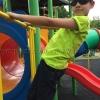 เสื้อยืดเด็ก สีเขียวมะนาว คอกลม แขนสั้น Size 2XL