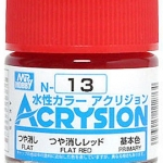 ACRYSION N13 FLAT RED สีแดงด้าน