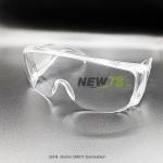 02418 แว่นตาขา SAFETY รุ่นครอบแว่นตา