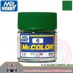 MR.COLOR C-6 GLOSS GREEN สีเขียวเงา