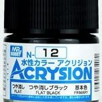 ACRYSION N12 FLAT BLACK สีดำด้าน