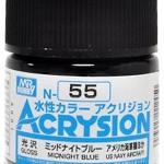 ACRYSION N55 GLOSS MIDNIGHT BLUE สีน้ำเงินกลางคืน