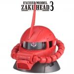 GACHAPON EXCEED MODEL ZAKU HEAD 3 กาชาปองซาคุ 3 สีแดง