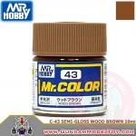 MR.COLOR C-43 SEMI-GLOSS WOOD BROWN สีน้ำตาลไม้กึ่งเงากึ่งด้าน
