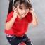 เสื้อยืดเด็ก สีแดง คอกลม แขนสั้น Size S thumbnail 3
