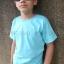 เสื้อยืดเด็ก สีฟ้าอ่อน คอกลม แขนสั้น Size M thumbnail 3