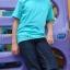เสื้อยืดเด็ก สีเขียวมิ้นต์ คอกลม แขนสั้น Size L thumbnail 3