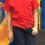 เสื้อยืดเด็ก สีแดง คอกลม แขนสั้น Size S thumbnail 5