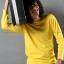 เสื้อยืด สีเหลือง คอกลม แขนยาว Size S thumbnail 6