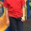 เสื้อยืดเด็ก สีแดง คอกลม แขนสั้น Size S thumbnail 4